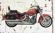 Yamaha XV1600 Roadstar 2001 Envejecido Vintage sign A3 Grande Retro
