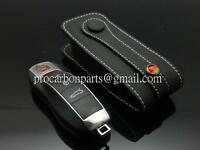 Black n white stitch Leather Key case for Porsche 911 Panamera 981 CARRERA 970