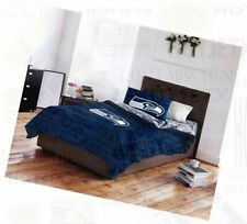 SEATTLE SEAHAWKS BEDDING SET TWIN NFL FOOTBALL BED PILLOW BLUE SUPERBOWL HD TV