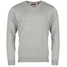PIERRE CARDIN Mens Grey Marl V Neck Knit Jumper Sweater XXL 2XL BNWT