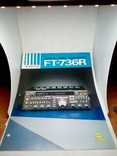 YAESU FT-736R BROCHURE ORIGINALE RADIO HF AMPLIFICATORE