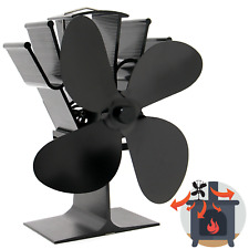 Heat Powered 4 Blade Stove Fan Eco Fireplace Efficiency M&W