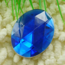 20pcs dark blue acrylic Flatback Rhinestone Faceted oval Gems 40x30mm ZH215