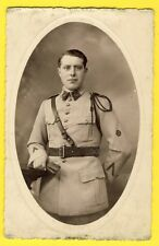 cpa Carte Photo STUDIO CUCHET à NANCY MILITAIRE SOLDAT du 103ème Régiment
