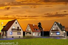 H0 Set Siedlungshäuser inkl. Hausbeleuchtung Startset Bausatz 1:87, Kibri 38995