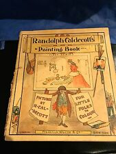 RANDOLPH CALDECOTTS PAINTING BOOK FOR LITTLE FOLRS TO COLOUR 1880