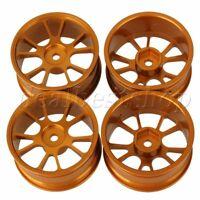 4p RC 10 Spokes Wheel Rim Aluminium Alloy Fit For 1:10 On-Road Racing Car Gold