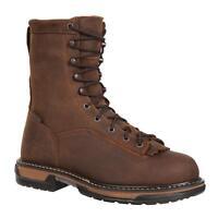 "Rocky 5698 IronClad 8"" Lace Up Full Grain Leather Waterproof Work Boots w Kiltie"