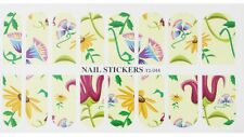 16 Nail Patch WATER TRANSFER Stickers(044)-Decorazione Unghie-Campanella Ipomea!