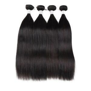 300g Straight Black Synthetic hair weave bundles Synthetic hair extensions
