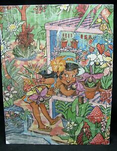 Vintage Hawaiian Puzzle Keiki Hawaiiana Ahola Flower Girl 30 Piece 1970's Mele