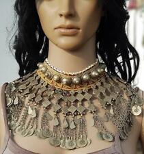 Boho Handmade Afghan CHOKER Old Beads Metal Banjara Tribal Gypsy Necklace