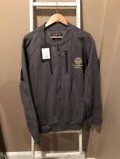 Beretta Centennial Bomber Sweatshirt Jacket Gray zip up 3XXL XXL New!