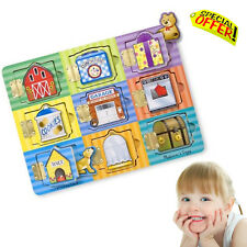 Autism Education Sensory Toys Kids Learning Hide Seek Wooden Activity Board Game