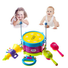US Stock 5pcs Baby Boy Girl Drum Musical Instrument Kid Gift Educational Toys QL