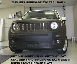 Lebra Front End Mask Cover Bra Fits 2015-2018 Jeep Renegade exc. Trailhawk 15-18