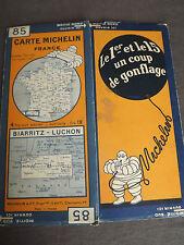 carte michelin 85 biarritz luchon  1929
