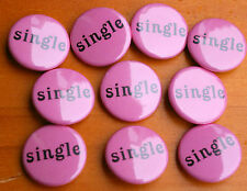 Lot of Ten Pink Single Bachelorette Party Dating Girl's Night Out Pinback Button