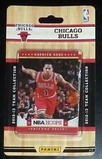 2012-13 Panini NBA Hoops Factory Sealed Team Set Chicago Bulls (10 Cards)