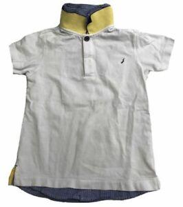 Jacadi Boy's White Checkered Collared Polo Shirt 10 Orig.$59