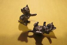 Two Pewter Cat Figurines