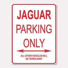 "JAGUAR Parking Only Street Sign Heavy Duty Aluminum Sign 9"" x 12"""