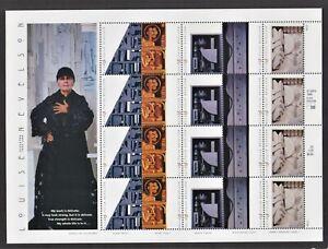 US 2000 - Louise Nevelson Sheet, Sc 3379 - 3383, Art - Sculptor, MNH, Unmounted