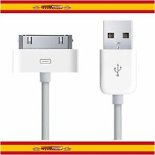 CABLE USB CARGA Y DATOS PARA IPHONE 4 4G 4S 3GS 3G iPOD IPAD 2 CARGADOR SYNC