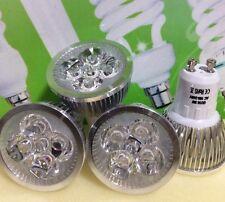 LED SPOT LIGHT BULB 5W=50W GU10,FOUR PIECES,BARGAIN £9.99,COOL DAYLIGHT,QUAILTY