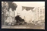 Vintage Real Photo Postcard Hollywood Blvd California RPPC Chop Suey Roosevelt
