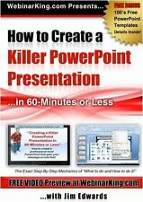 PowerPoint: How to Create a Killer Power Point Presentation... in 60 Minutes or