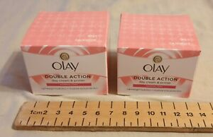 2 x Oil Of Olay NEW Double Action Day And Primer Cream Normal/Dry Skin  50ml...