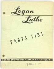 Logan Lathes Parts List Chicago Illinois 1966 Exploded Diagrams Line Drawings