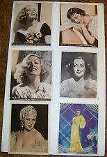 Group of Photographs of 6 Movie Stars Colbert-Crawford-Hopkins-West-