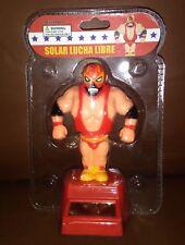 Solar Power Dancing Toys Lucha Libre Red Mexican Wrestler Man Bobble Head