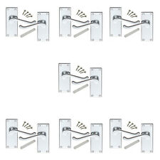7 Pack of Victorian Scroll Polished Chrome Internal Door Handles 114x40mm