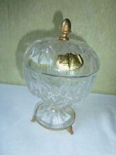 Ancien Drageoir Sucrier Cristal de PARIS sur pied régule doré