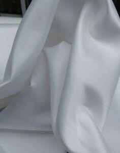 HEAVY WHITE DUCHESS SATIN, BRIDAL, WEDDING DRESS,  200gsm fabric sold/PER METRE/