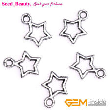 50x Cute Alloy Metal Star Shape Charms for Jewelry Making DIY 10mmx13mm in Lots