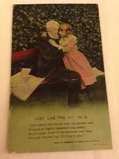 """Song Card """"Just Like The Ivy"""" Bamforth Postcard - Stamped"""