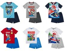 New boys licensed Super Mario Bros character short sleeve pyjamas nightwear pjs