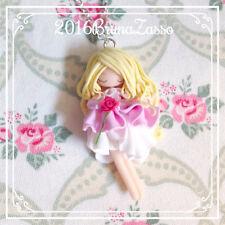 Collana Aurora ~ Cute Sleeping Beauty Necklace Disney Fimo Polymer Clay Kawaii