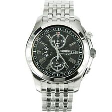 Seiko Alarm Chronograph SNAE31P1 Men Roman Sapphire 100m Stainless Steel Watch