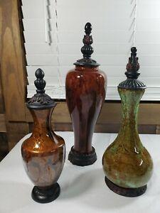 3 Decorative Vases Urns Genie Bottle Interior Design Home Decoration  Props