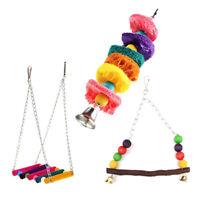 Cage Hammock Swing Hanging Chew Toy Pet Bird Parrot Parakeet Budgie Cockatiel