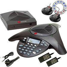 Polycom Soundstation 2W Wireless Conference Phone Telephone & Mics