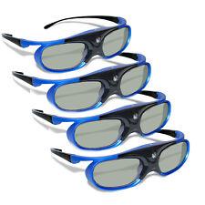 4x DLP-Link 3D Projector Active Shutter 3D Glasses Rechargeable Battery Powered