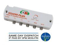 Caravan Motorhome Vision Plus Digital TV Radio Amplifier with Signal Finder VP5