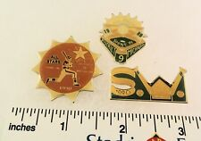 3 Little League Baseball PINs - MI D9 - ALL STARS - 1989 1990 Etc