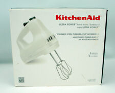 Ultra Power 5-Speed White Hand Mixer with 2 Stainless Steel Beaters KitchenAid